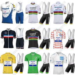 Wholesale Racing Sets Quick Step Cycling Jersey Set Ropa Ciclismo World Clothing France Tour Bike Suit Maillot Cyclisme Fietskleding