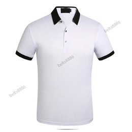 Wholesale color polo shirts for sale - Group buy 2021 Business Casual Polo shirt tshirt Men Sleeve Stripe Slimmer Manly Society Men s Fashion Checked Five color chooes