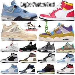 2021 Sail Desert Moss 1s 4s sneakers shoes Light Fusion Red University Blue Shadow 2.0 Dark Mocha 1 men women Sports trainers on Sale