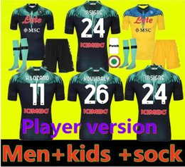 Yetişkinler ve Çocuklar 20 21 22 Napoli Futbol Jersey Ev 2021 2122 Napoli Zielinski Maradona Insigne Mertens Callejon Player RPG Futbol Gömlek