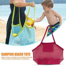 Wholesale designer fitness clothes for sale - Group buy Mesh Beach Bag Travel Clothing Storage Swimming Sports Fitness Seashell Holder Sand Dredging Tool Container Bags