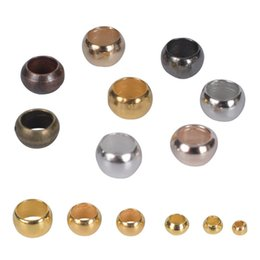 Wholesale 500Pcs Lot Ball Crimp End Beads Stopper Spacer Beads For DIY Jewelry Making Findings Supplies 1927 Q2