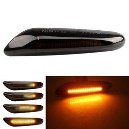 Wholesale Emergency Lights 2 Pieces Led Dynamic Side Marker Turn Signal Light Indicator Blinker Lamp For E90 E91 E92 E93 E60 E87 E82 E46