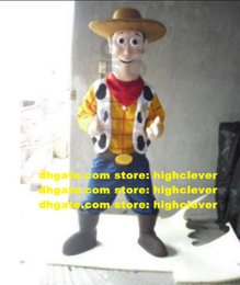 cowboys costumes UK - Cowboy Woody Mascot Costume Adult Cartoon Character Outfit Corporate Communications Kindergarten Pet Shop CX4024 Free Ship