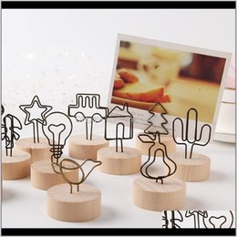 wooden table stand 2021 - Other Festive Supplies Wood Place Card Holder With Wedding Retro Wooden Po Clip Stand Number Memo Stands Party Table Decoration Dbc 02 Vbocn