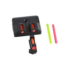 Fiber Optic Front and Rear Sight Scope Glock Sights for Standard Models Pistols Tactical Hunting Optical Accessories Fits Glok