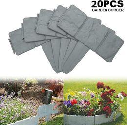 20 pack jardín borde frontera paisaje flexible entrelazado frasco plástico palisade cerca bricolaje decorativo hierba flor de flores en venta