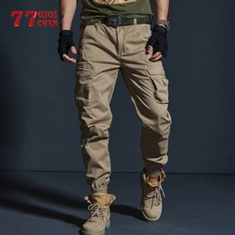 Wholesale large pocket cargo pants resale online - Pants Military Tactical Mens Joggers Camouflage Cargo Casual Male Cotton Multi pocket Fashions Large Size
