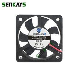 Wholesale exhausted fan for sale - Group buy Fans Coolings DC V V V Computer CPU Cooler Mini Cooling Fan MM x50x10mm Small Exhaust For D Printer XH2 Pin