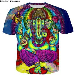 trippy shirts NZ - PLstar Cosmos t shirt men woman 3d printed colorful Trippy summer top fashion clothes hip hop printed elepha Psychedelic Tees 210409
