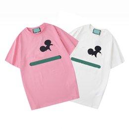 2021 Frauen Herren Designer T-shirts Tshirts Mode Tier Brief Druck Kurzarm Dame Tees Luxurys Womens Casual Kleidung im Angebot