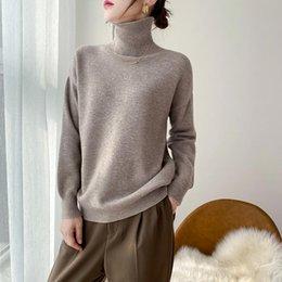 Mesdames Twist Haute-col en tricot 100/% cashmeresweater à manches longues lâche Manteau Tops