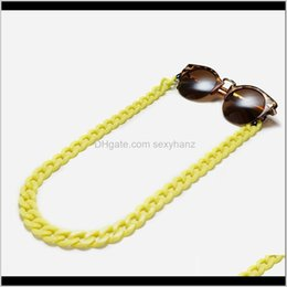 Frames Eyewear & Fashion Drop Delivery 2021 Colorful Acrylic Punk Link Chain Glasses Chains Sile Eyeglasses Cord Sunglasses Necklace Band Acc on Sale