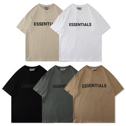 press t shirts Australia - T shirt Essentialschest Lettering Press Glue Short Sleeve Fog High Street Loose