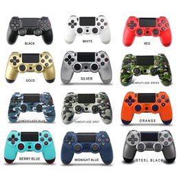 Handheld Bluetooth Wireless Controller without Logo 22 Colors Vibration Joystick Video Game Gamepad for Sony PS4 Play Station on Sale