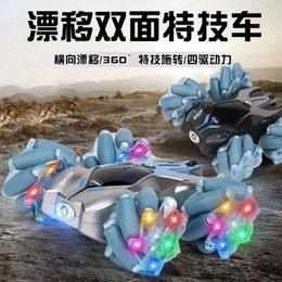 Elektrikli / RC Carremote Kontrol Şarj Işık Dublör Rolling Drift Çift Yan 360 Rotasyon Çapraz Ülke Araç Çocuk Oyuncakları