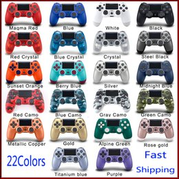 Wholesale Wireless Bluetooth Controller for PS4 Shock Controllers Joystick Gamepad Game Controller With Retail Package LOGO