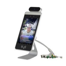 venda por atacado Máquina de reconhecimento de face dinâmica com scanner de temperatura infravermelho sem contato para o horário de mercado de escritório Attandance Access Control Facial Syste