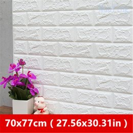 switch poster Australia - PE Foam 3D Wallpaper DIY Wall Stickers Decor Embossed Brick Stone Room House 60X30X0.3 cm Poster