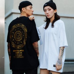 stamp t shirts UK - Men's 2021 Summer Street Hip Hop Gold Stamping Round Neck Short Tee Fashion Brand Loose Couple Half Sleeve T-shirt for Men
