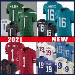 16 Trevor Lawrence 1 Zach Wilson Football Jersey 1 Mac Jones 9 Matthew Stafford 16 Jared Goff 19 Kenny Golladay 99 J.J. Watt 12 Tom Brady on Sale