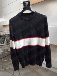 メンズデザイナーセーターパーカーレディースカジュアルラウンドネック長袖セーターカップル高品質スウェットシャツブラックサイズM-2XL
