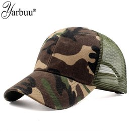 mesh ball caps outdoors 2021 - Ball Caps Men's and women's summer baseball children's mesh duck tongue camouflage net hat outdoor sunscreen sun hat