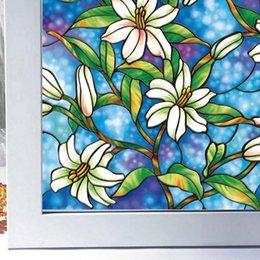 Glass Decor Sticker Foil Paint Window Shower Bathroom WC Flower Vine Tattoo 48