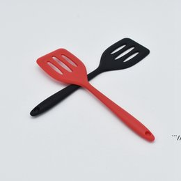 turner kitchen tool NZ - Food Grade Silicone Turners Cooking Utensils Egg Fish Frying Pan Scoop Fried Shovel Spatula Kitchen Tools Gadgets Wholesale AHA5132