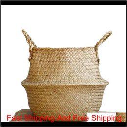 Опт Висит корзины тканые морские боевые площадки корзины для хранения пикника для хранения пикника Pictic Pot Cover Beach Bag I8xVK QPSJR
