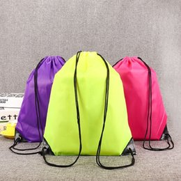 Wholesale Kids Drawstring Bag Clothes Shoes Bags School Sport Gym PE Dance Backpacks Nylon Backpack Polyester Cord bag by chillcoll