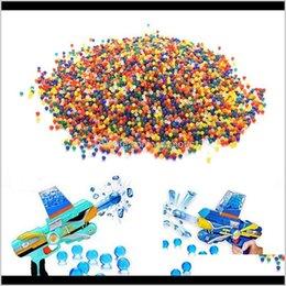 Toptan satış Elektrikli Su Paintball 7mm Renk Kristal Yumuşak Silah Oyuncak Çamur Boncuk Topları Büyümek Topları Toprak Tabancaları Aksesuarları Erkek Oyuncaklar 20000 adet 1 Şişe RFQWN DKK1O