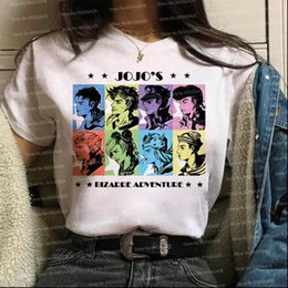 Wholesale jojo bizarre adventure resale online - Jojos Bizarre Adventure Harajuku Women T Shirts Japanese Cartoon anime Fashion Ulzzang cool jojo Graphic korean clothes