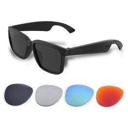 Опт Smart Audio Наушники Bluetooth Glasses BT5.0 Поддержка Телефонный звонок Бесплатные Музыкальные Беспроводные Интеллектуальные наушники Солнцезащитные очки Управление Открытое ухо