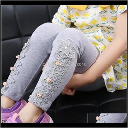 christmas pencils wholesale UK - Tights Clothing Baby, Kids & Maternity Drop Delivery 2021 Baby Lace Flower Girls Pencil Pants Childrens Cotton Skinny Trousers Babys Toddler