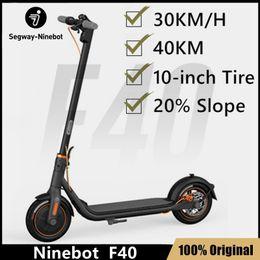 Venta al por mayor de EU Stock 2021 Original Ninebot por Segway F40 Scooter eléctrico inteligente La última versión kickscooter 30km / h Patinaje de freno dual plegable con aplicación incluido de IVA