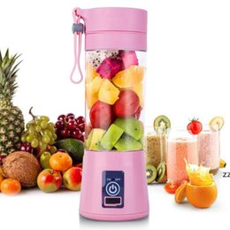 380ml USB wiederaufladbare tragbare Mixer Mixer 6 Klingen Zitrone Gemüse Frucht Saftierer Squeezers Meer Versand HWB10171 im Angebot