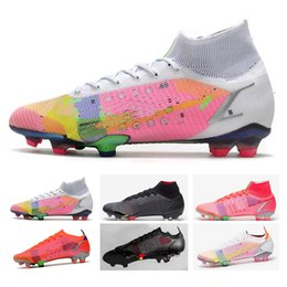 Bolsa Presente Mens football shoes High Tops Botas de Futebol Cr7 Vapores Mercuriais 14 Elite FG Cleaves Ao Ar Livre Neymar Acc Superfly XIV Soccer Shoe on Sale