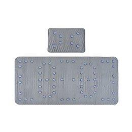 Опт Нескользящая ванна коврик для ванны набор ванны для ванны, материал пены из ПВХ с присоске, серый