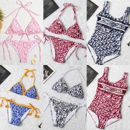 Vente en gros Mélanger 6 styles femmes lettres maillot de bain bikini mode maillot de bain multis plage maillot de bain ladyewear été prêt à expédier