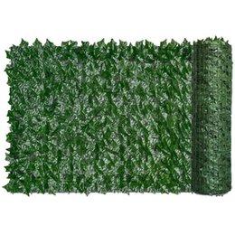 Venta al por mayor de Esgrima, Puertas enrejadas Hedge artificial Hoja verde Ivy Fence Screen Plant Wall Fake Hierba Decorativo Contexto Privacidad Protección Inicio Balc Balc