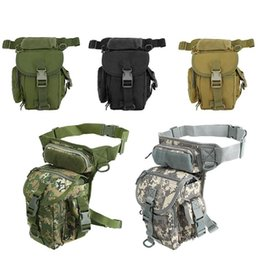 Discount tactical fanny packs Military Tactical Drop Leg Bag Fanny Thigh Pack Hunting Waist Motorcycle Riding Multi-function Packs Outdoor Bags