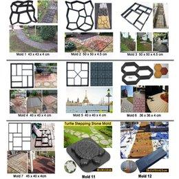 Manually Paving Cement Brick Concrete Molds Reusable DIY Plastic Path Maker Mold Garden Stone Road Paving Mold Garden Decoration 2134 V2 on Sale