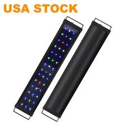 Ingrosso Luci del serbatoio del pesce del LED dimmerabile della luce dell'acquario con il controllo a 2 canali bianco e led blu dei LED ad alta uscita USA