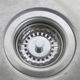 Alta qualità 79.3mm 304 Acciaio inossidabile Cucina in acciaio inox Dreni Lavello Sinvallo Stopper Scarico Plug Filtro Bagno Bagno Drain RRD7293 in Offerta