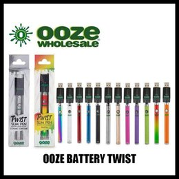OOZE Twist Preheat 320mah Battery Charger Kit variable voltage Preheat Bud Touch battery 510 thread Vape Pen Battery Cartridge Vaporizer on Sale