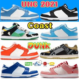 Coast Dunk sb UNC 2021 Casual Designer Shoes White Black Chunky dunky Easter pink pigeon Shadow men women sneakers Kentucky SP Syracuse Chicago Navy luxury Trainers
