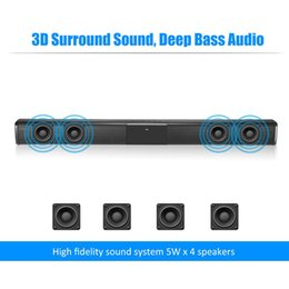 20W TV Sound Bar Wired and Wireless Bluetooth Home Surround SoundBar for PC Theater Speaker