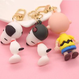 pilot bags 2021 - Keychains Cute Snoopy Charlie Keychain Dog Pilot Pendant Bag Hanging Doll Machine Supplies