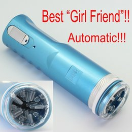electric piston masturbator Australia - Blue Electric Retractable Male Masturbator Pussy Cup, Piston Fully-automatic Sex Machine, Sex toys for men, Adult Sex toys X-9A 210407